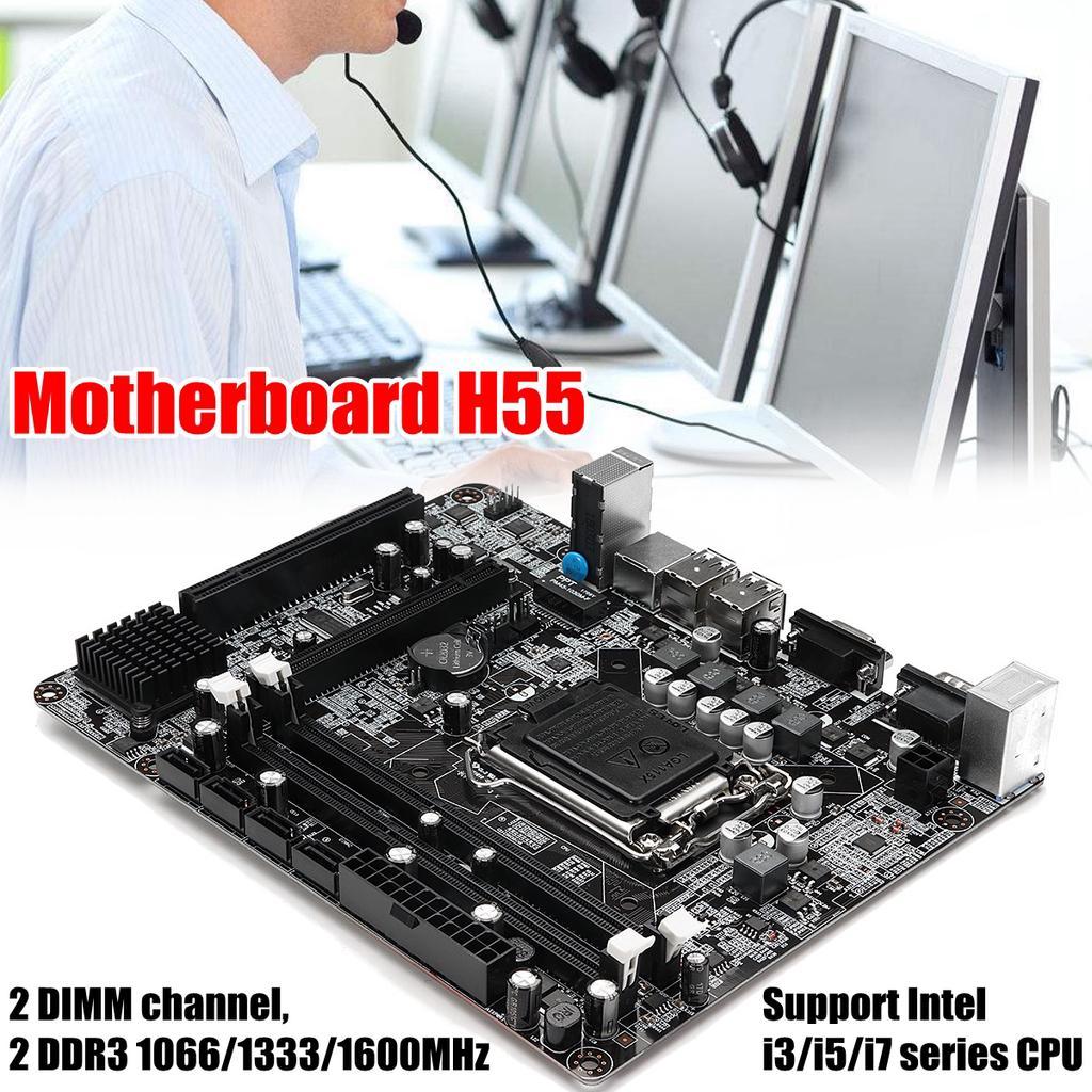 Motherboard Desktop Computer 6 Ch Ddr3 For Intel H55 H57 Q57 P55 Vga Card Buldozer 1 Of 10
