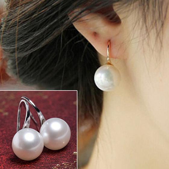 韩国新款耳钉 韩版热卖时尚珍珠耳钉双面两用耳钉小饰品配饰批发