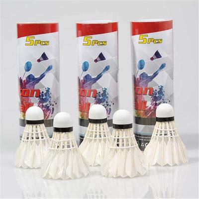 5Pcs Game Sport Training White Duck Feather Shuttlecocks Birdies Badminton BallD Bälle Weitere Ballsportarten