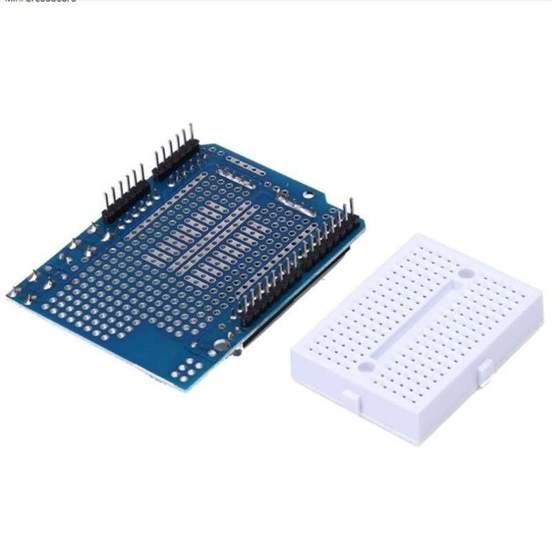 Atmega328P UNO Arduino Prototyping Prototype Shield ProtoShield+Mini Breadboard