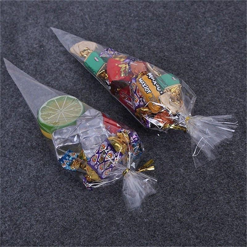 Рождественские подарки цветок свадьбы партии попкорн Хэллоуин конфеты ясно целлофан упаковки сумка перевязку фото