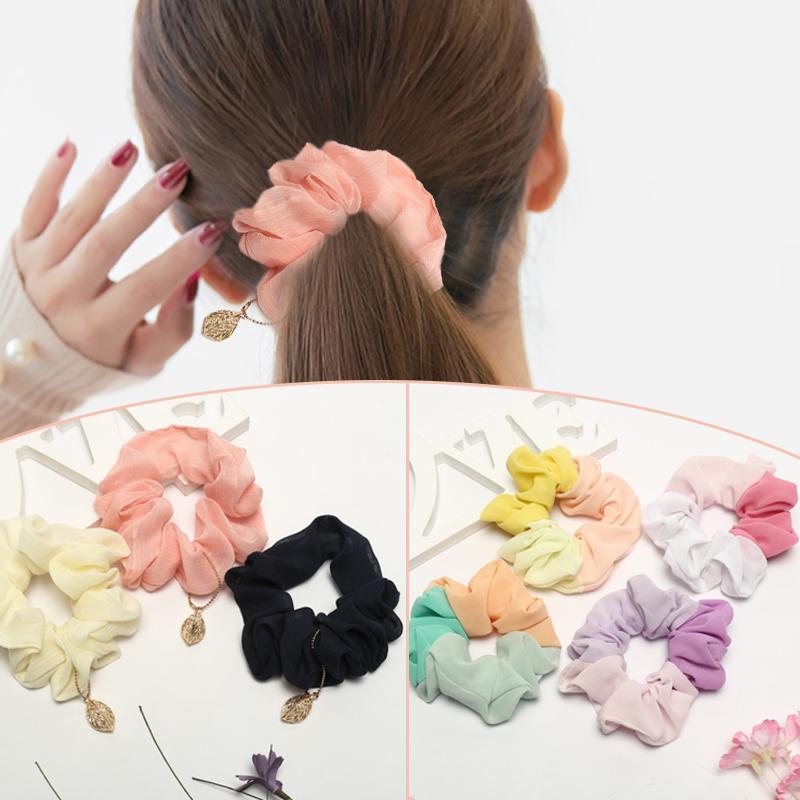 Hair Scrunchies Hair Ties Ladies Acetate Hair tie