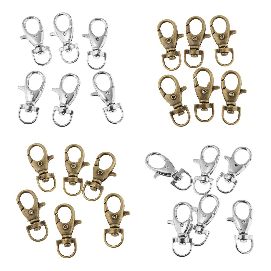 Lobster Claw Clasps,40 Pieces of Metal Key Ring DIY Jewelry Accessories Key Chain Hook with Chain
