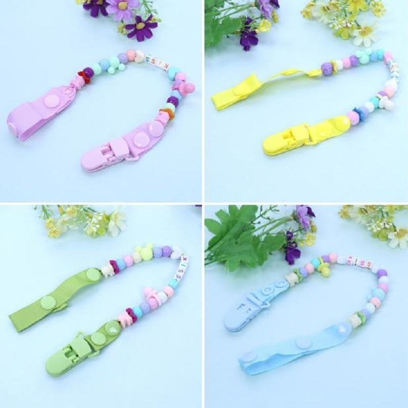 Pacifier Clips Soother Straps Dummy Chains Holders Ribbons Silicone Nipple Rings for Newborn Gifts Blue