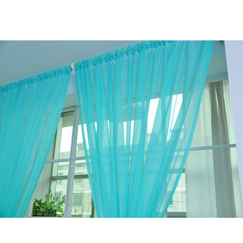 Мода Чистый цвет Прозрачный прозрачный экран окна Не-растяжка многоцветная стеклянная пряжа – купить по низким ценам в интернет-магазине Joom