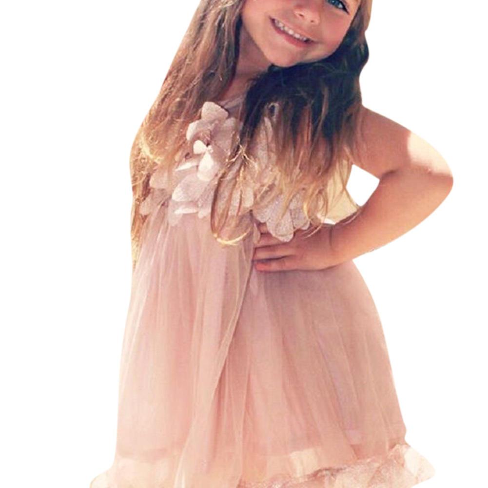 Niños niña ropa princesa pétalo tul fiesta Formal vestido princesa ...