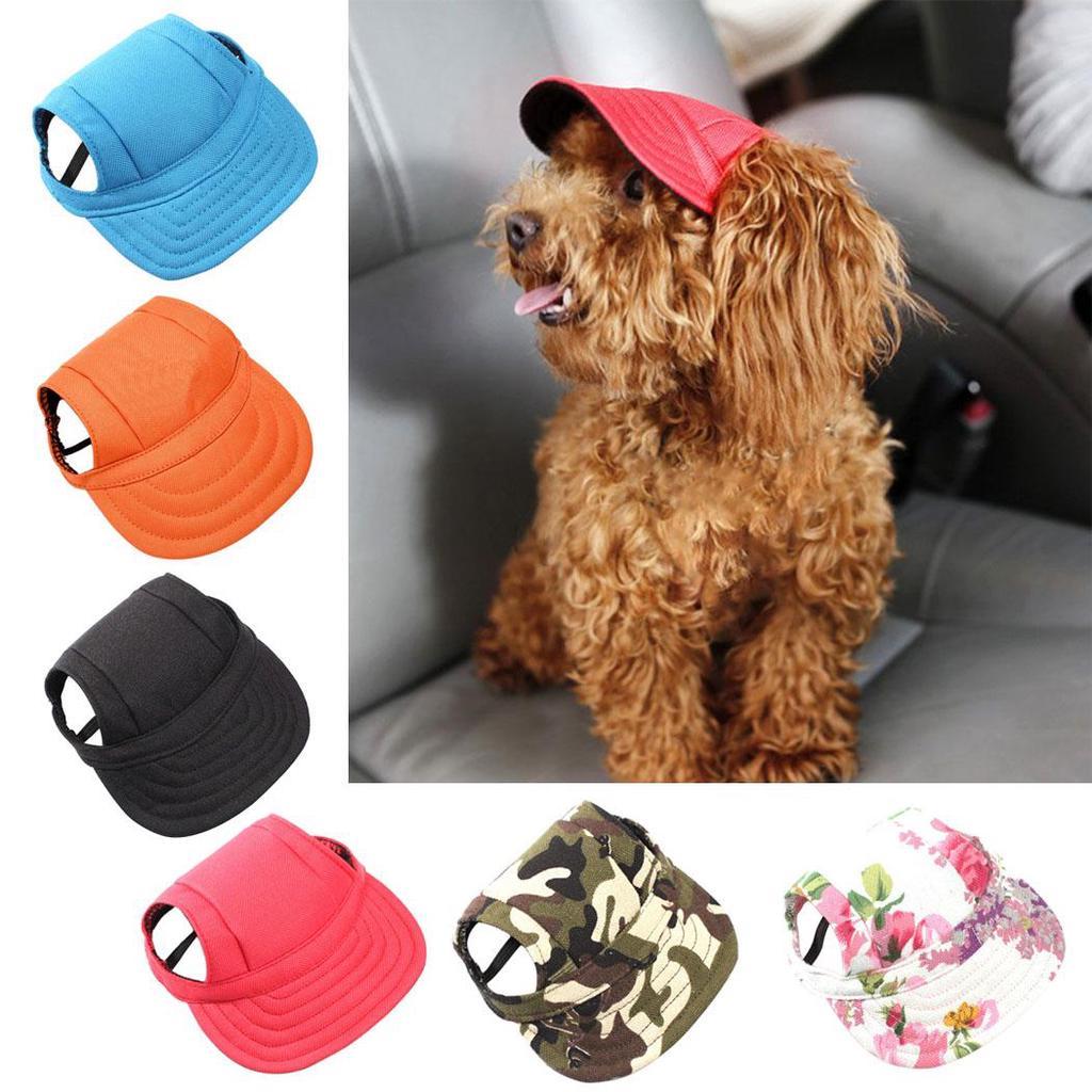 3f30e71836a Dogs Hat Nylon Baseball Cap Visor Cap with Ear Holes for Small ...
