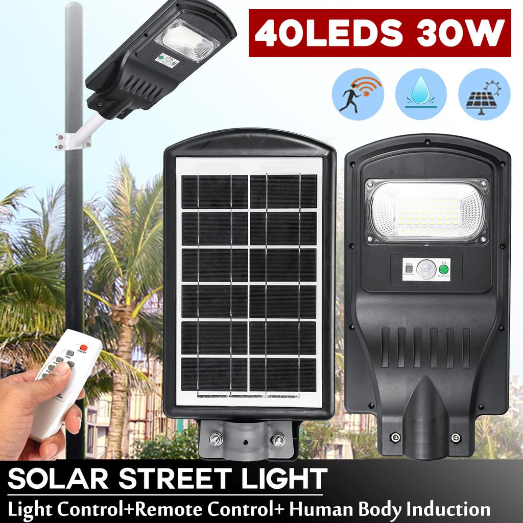 90W LED Outdoor Solar Street Lights Without Remote Control For Yard Garden Farm