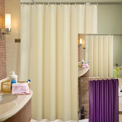 2017 New Beautiful Fabric Shower Curtains Extra Long Or Wide Beige Purple To Choose