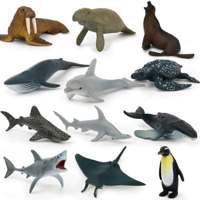 12pcs Kids Small Plastic Figures Wild Ocean Farm Animal Dinosaur Model Toys Gifts