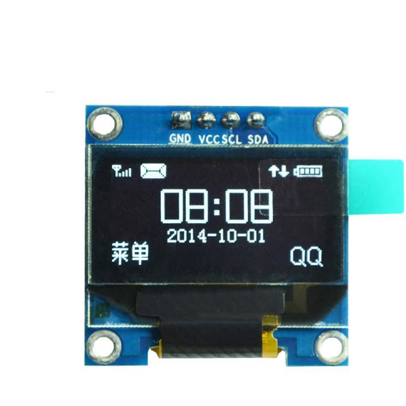 0.96in I2C IIC Serial 128X64 Module White OLED LCD LED Display for Arduino DE