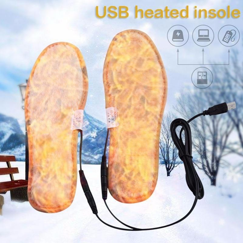 Electric Heated Insoles Warm Shoe Inserts Shoes Boot Warm Shoe Pad 40-44 Unisex