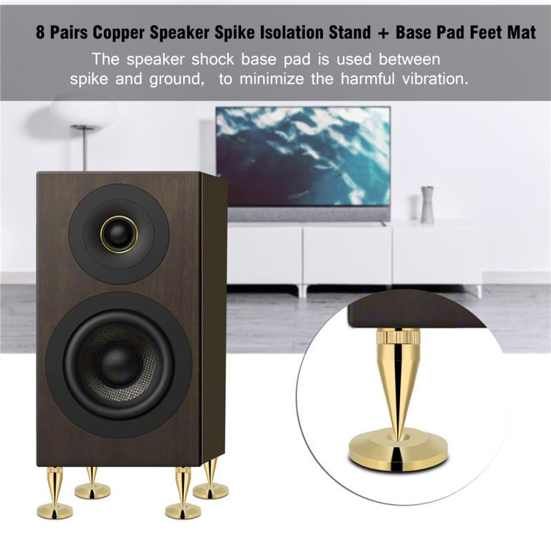 4pcs Stainless Steel Speaker Spike Stand Nail Damping Isolation Base Feet Pads