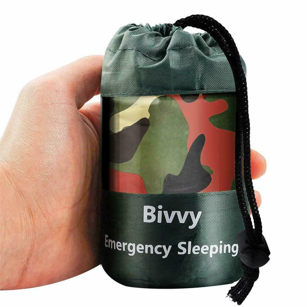 Камуфляжный водонепроницаемый многоразовый аварийный спальный мешок Тепловой выживания Кемпинг – купить по низким ценам в интернет-магазине Joom
