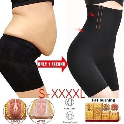 Woman Briefst High Waist Slimming Pants Floral Patter with Silicon NOT ROLL OFF