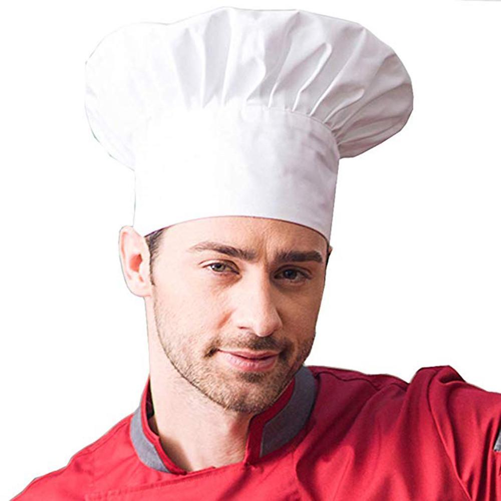 Adulto de sombrero de moda Chef panadero elástico ajustable cocina ... bfcdef97663