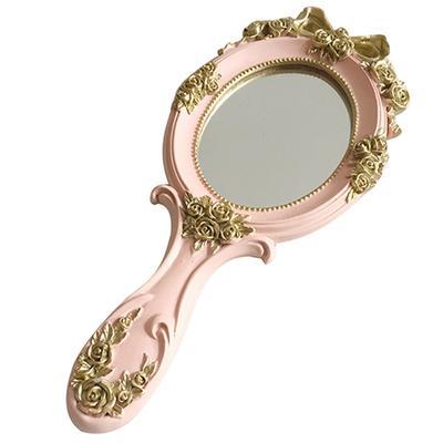 симпатичные творческие деревянные винтаж рука зеркала макияж зеркало тщеславия Rectangle рука держать