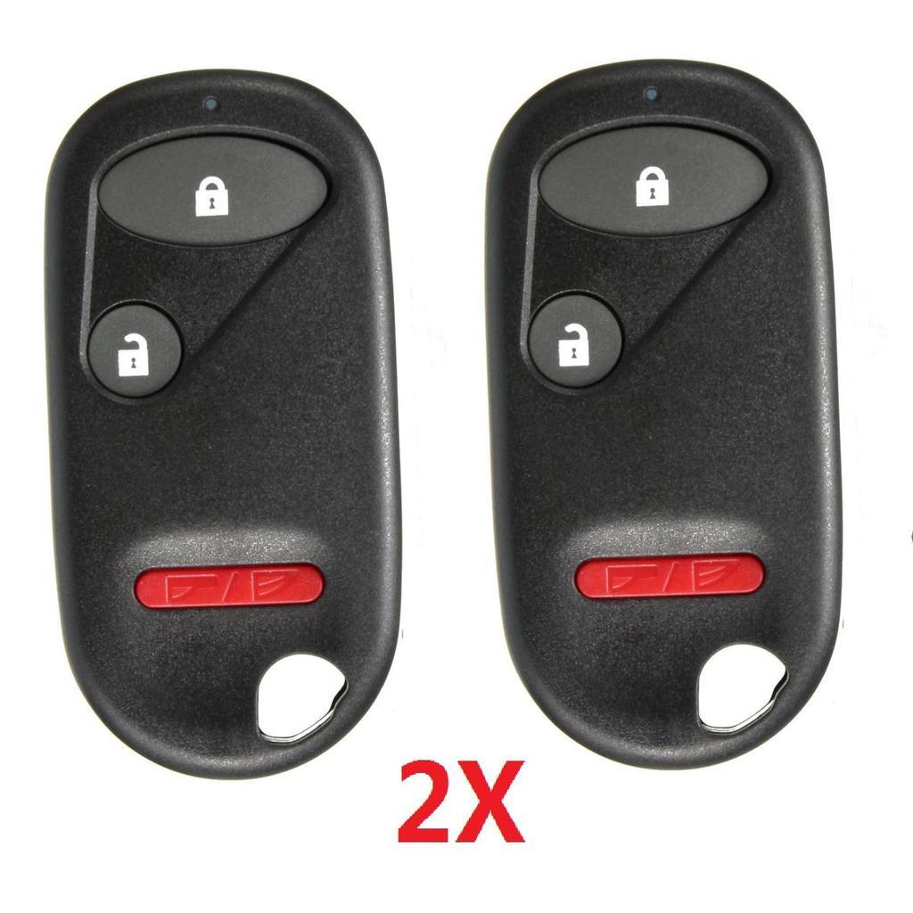2 Tasten Schlüssel Rohling Schlüsselgehäuse für Honda Accord Civic CR-V Pilot