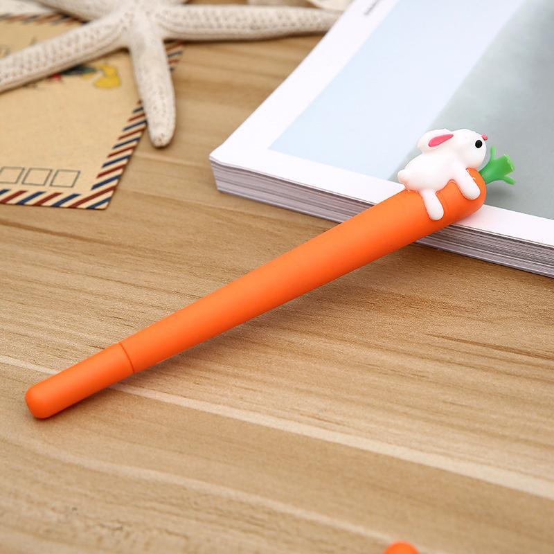 1PC Cartoon Carrot Ball Point Gel Pen Ballpoint Creative Stationery Student Gift