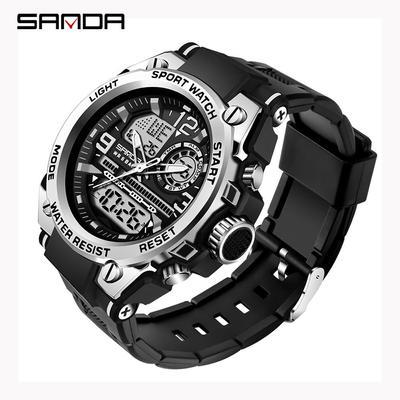 Top Brand Luxury Men's Watches Waterproof Military Wristwatch Stopwatch Quartz Sports Watch For Men Clock Relogio  6024
