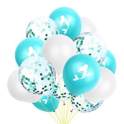 15PCS Latex Mermaid Balloon 12Inches Balloons Party Decor Birthday Supplies