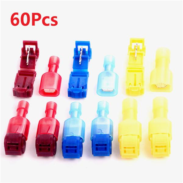 10X Quick Splice Yellow 12-10AWG Male Spade Heat Shrink Wire Connector Terminals
