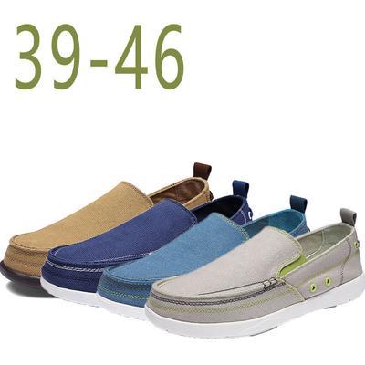 Moda primavera velho Pequim Men ' s pano de lona sapatos