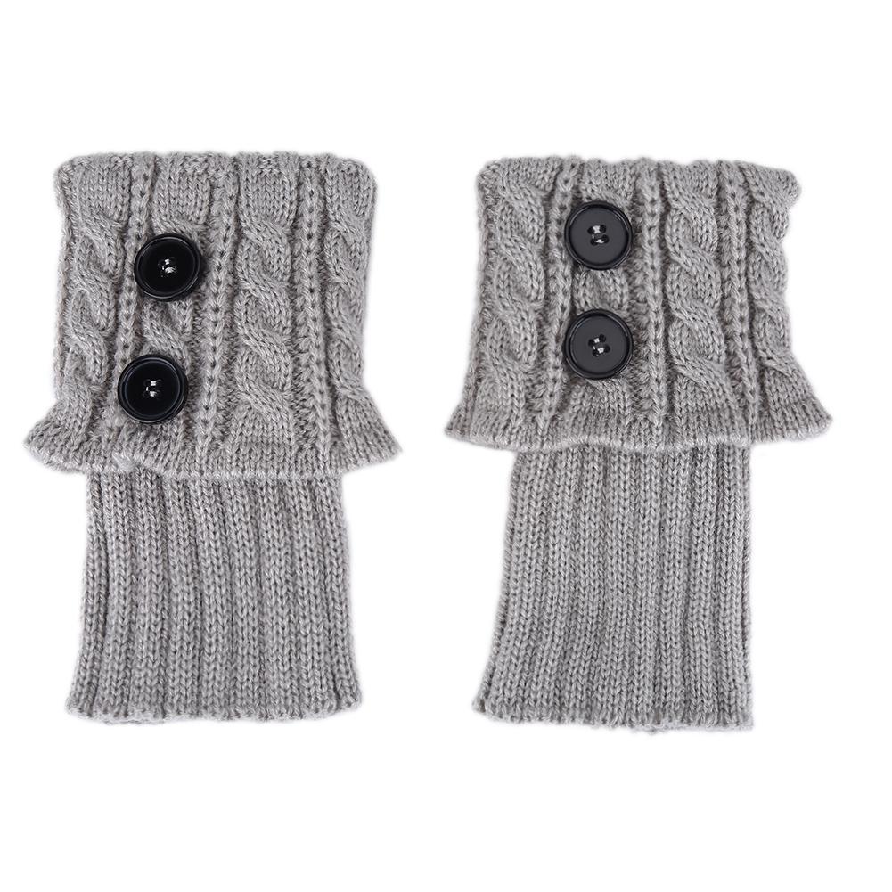 Calentador invierno corto arranque puños pierna punto Crochet ...