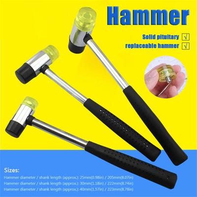 Double Face 25-35mm Soft Tap Rubber Hammer Mallet Leather Hand Tool