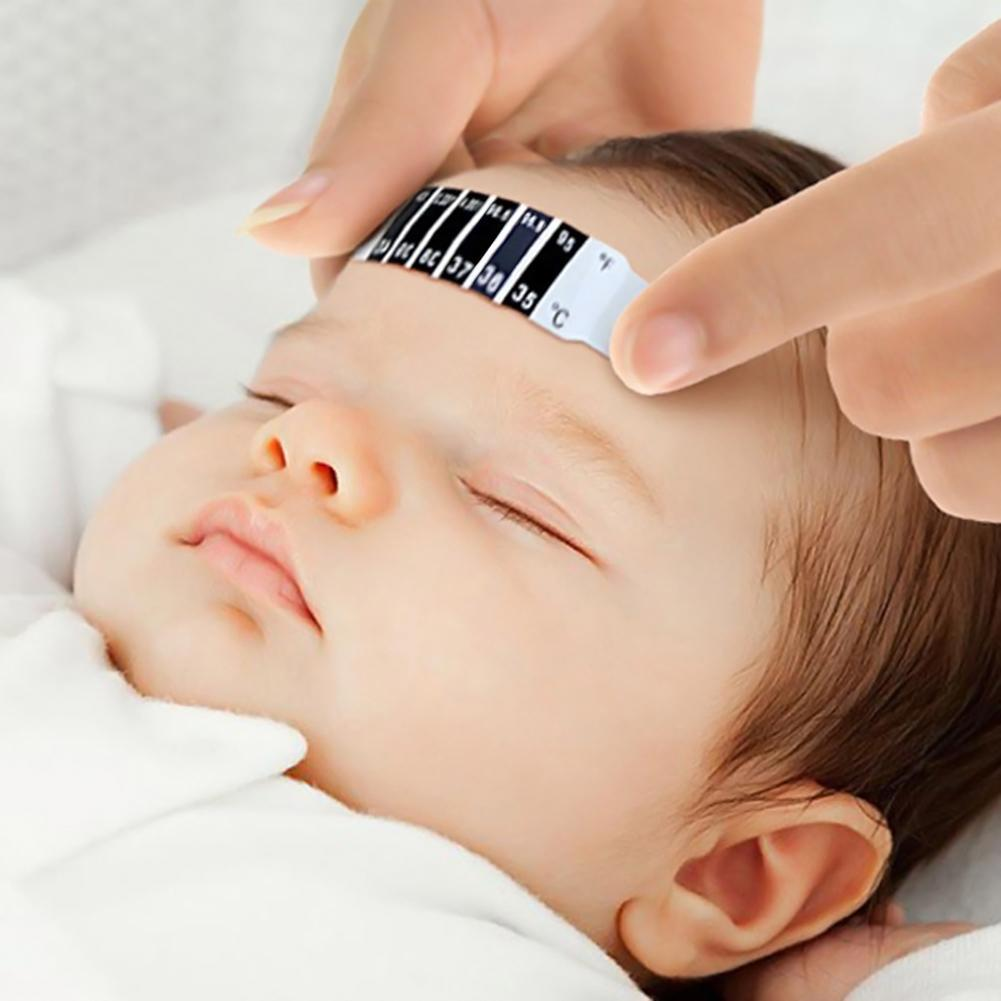Baby Kids Forehead Strip Head Temperature Test Thermometer Sticker