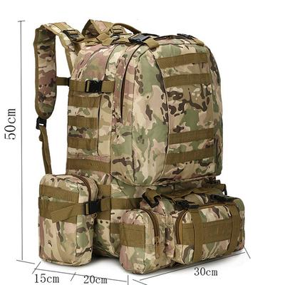 1b724d48a8d4 Men's camping bag oxford cloth 4-in-1 outdoor backpack 56-75L hiking ...