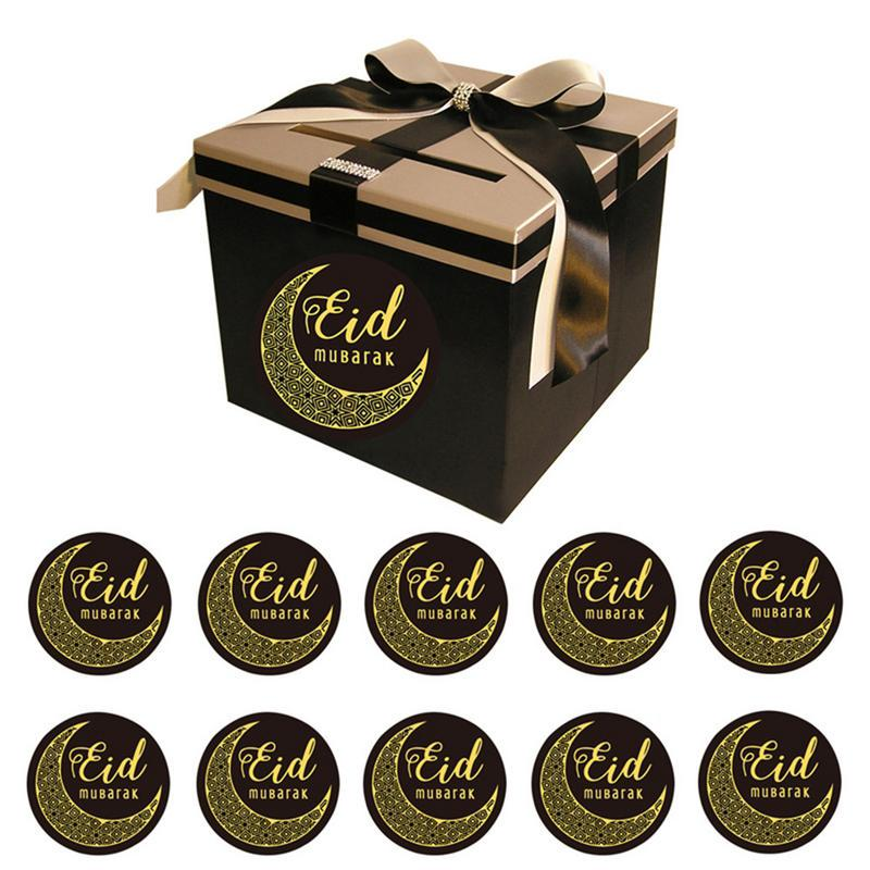 Happy Eid Mubarak Paper Gift Box Ramadan Decorations Islamic-Party Decal Deco