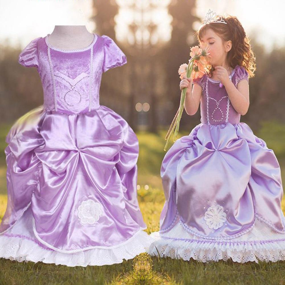 Niños niñas Sofía Sofía princesa vestido vestido lindo traje fiesta ...