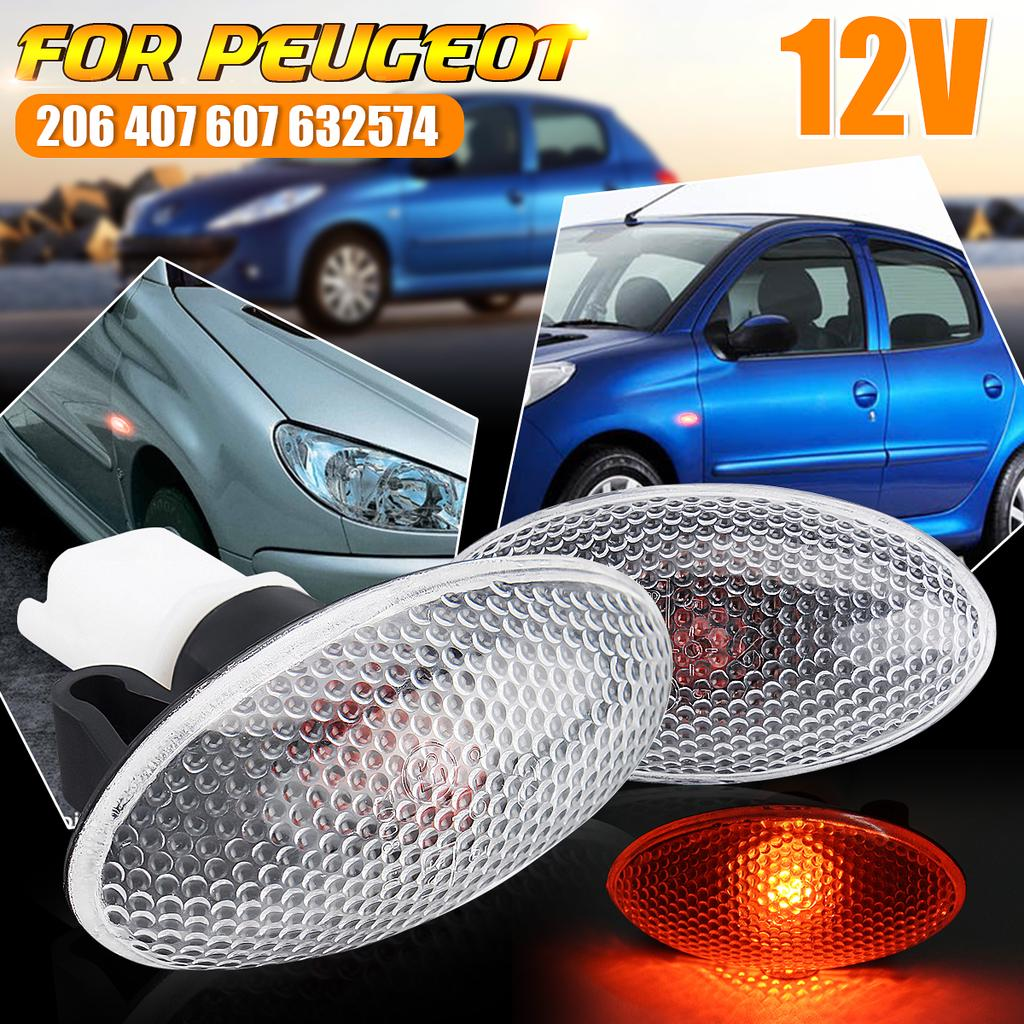 2x Peugeot 1007 4-LED Side Repeater Indicator Turn Signal Light Lamp Bulbs