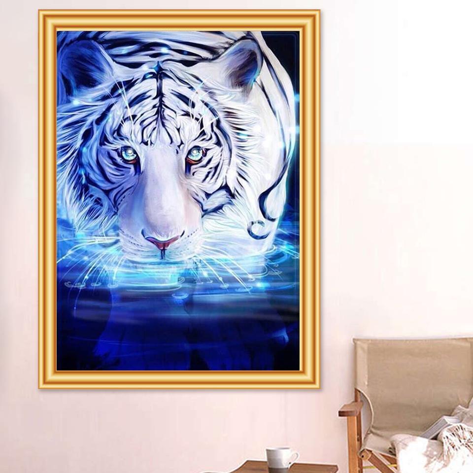 5D Diamond Painting Blue Eyes Full SquareRound Drill Mosaic Diamond Embroidery Cross Stitch Kits Wall Painting Home Decro