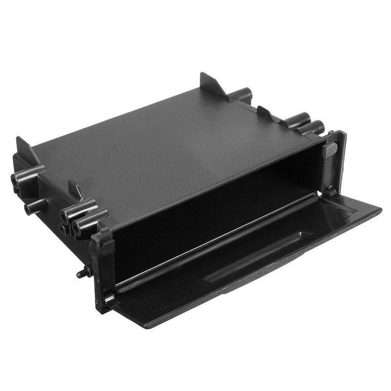 Universal Single Din Pocket Car CD Radio Stereo Dash Trim Storage Box Kit Black