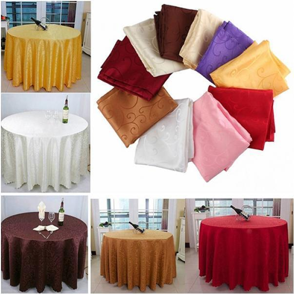 1m Runde Tischdecke Häkeln Blumen Muster Hochzeit Bankett Tisch