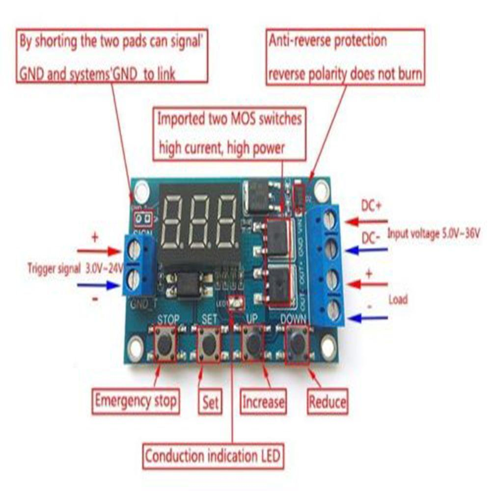 12v Mode Heien Led Display Digital Delay Timer Control Relay Metal Sensor Detector Circuit Schematic With Tda2822 The 1 Von 7