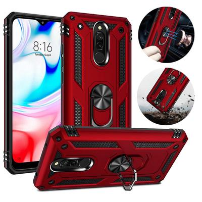 Luxury Armor Shockproof Phone Case for IPhone Samsung Huawei Honor Xiaomi Redmi Full Cover Car Magnetic Ring Bumper Back Shell