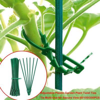 100 Garden Support Clips Vegetables Tomato Vine Flower Locks Secure Plants 4cm