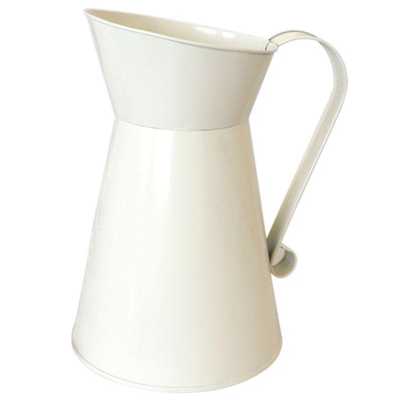 MagiDeal Shabby Chic Metal Jug Vase Flower Jar Wedding Home Table Decor Planter Pot