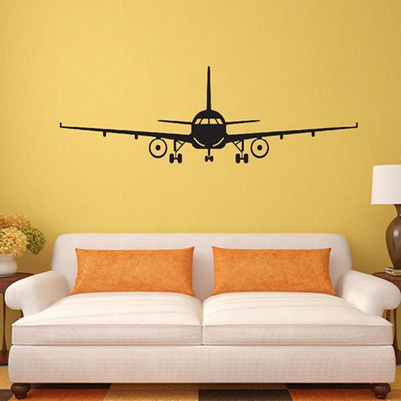 Aeroplane Wall Stickers Transfer Graphic Plane Decal Decor Sticker Art Stencil