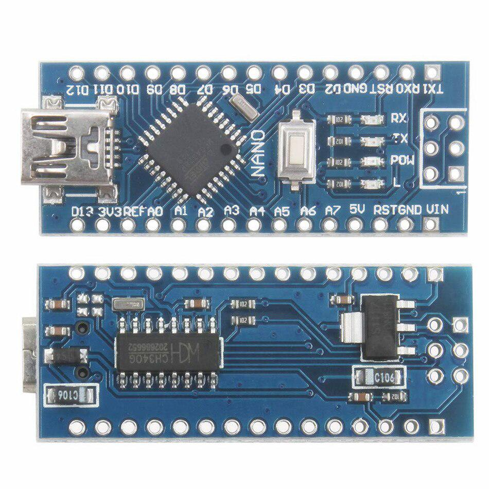 Welded 5V MicroContoller NANO V3.0 CH340G Arduino Bootloader CHIP+Breakoutboard