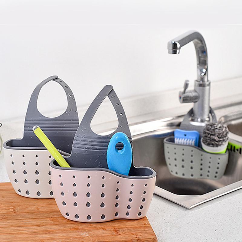 Durable utensilios de cocina fregadero bolsa de drenaje peque/ño estante esponja piscina suministros de almacenamiento trapo colgante cesta de drenaje estante de drenaje
