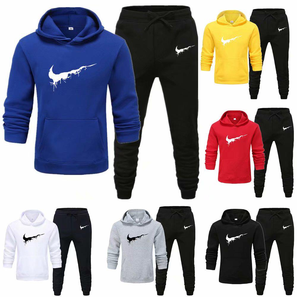 Buy Men's Sets Drop hoodies+Pants Sport Suits Casual Sweatshirts Tracksuit  Sportswear at affordable prices — free shipping, real reviews with photos —  Joom