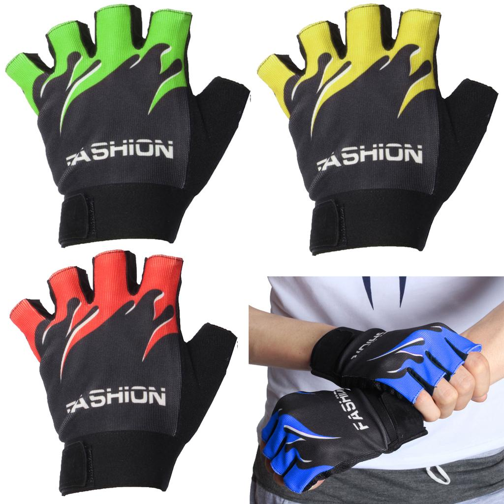 Details about  /Cycling Gloves New Shockproof MTB Road Bike Riding Half Finger Windproof M-XL CA