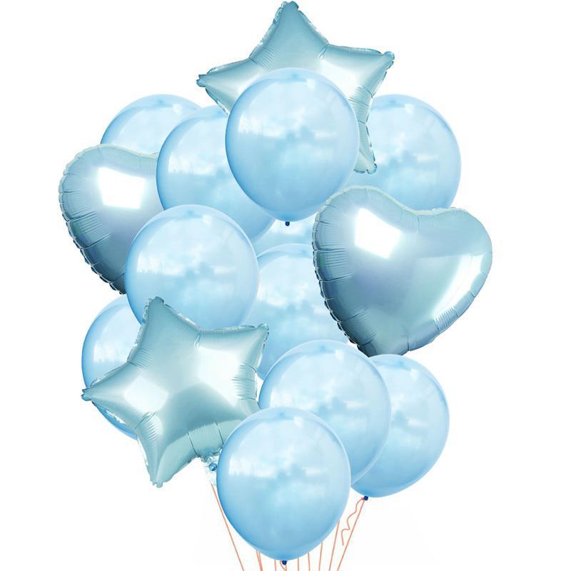 14pcs//set Wedding Birthday Balloons Latex Foil Confetti Balloons Kids  Party