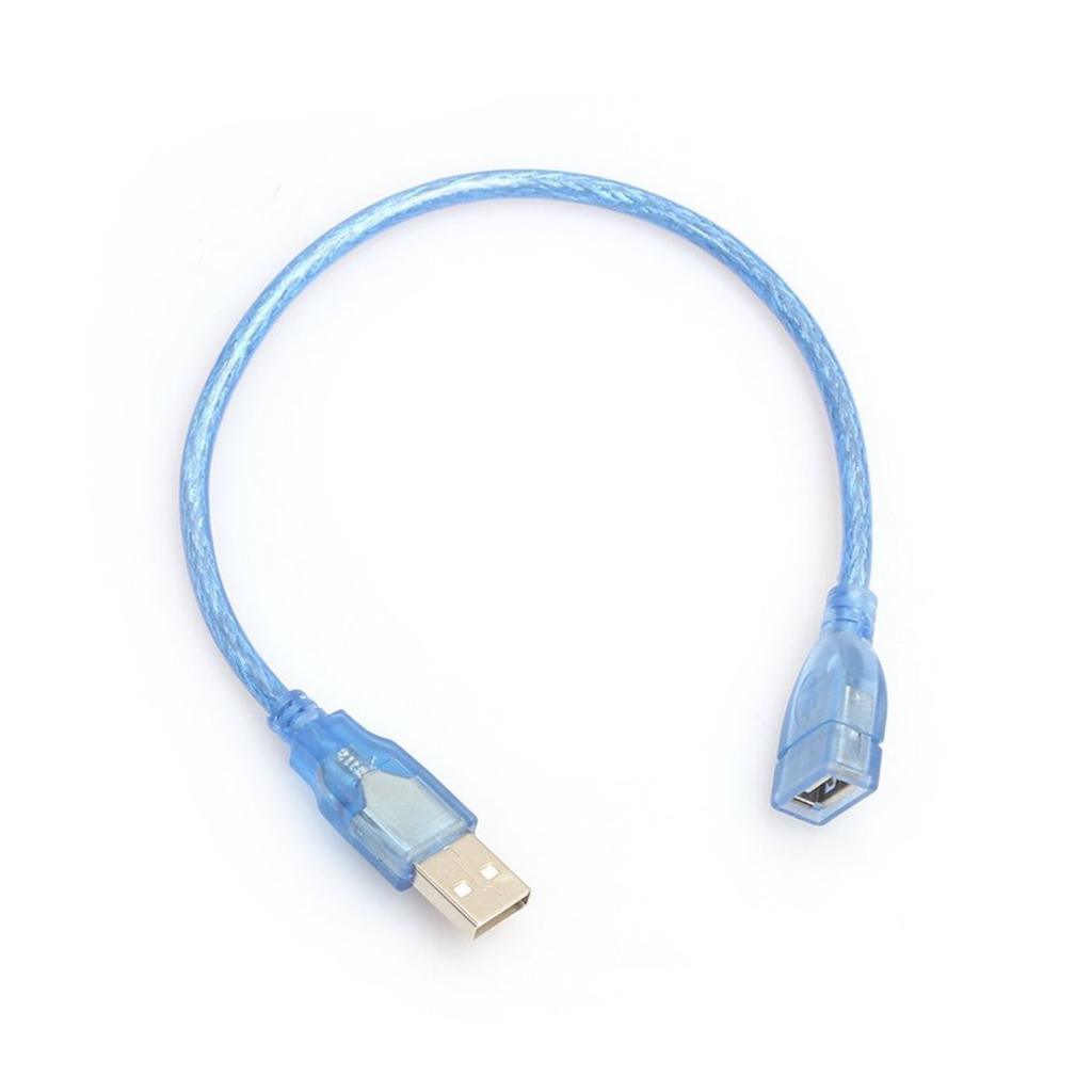 30cm USB 2.0 A Male to A Female M//F Extension Cable USB Cord Blue