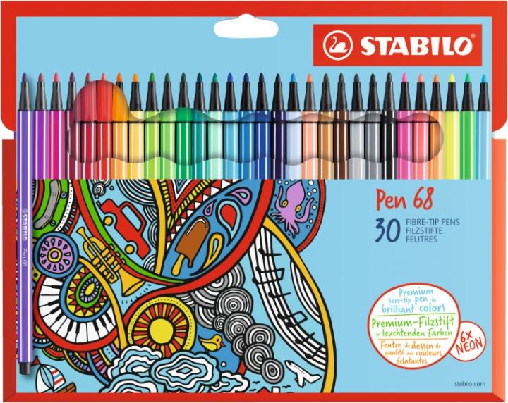 Stabilo Power Marker Medium, 12 Colours, Multicoloured, Round Tip, Multicoloured, Round