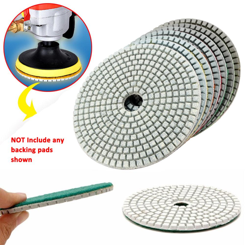 Diamond Polishing Pads 5 inch 125mm Disc 20 Piece Set Granite Marble Concrete
